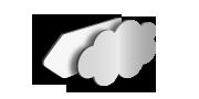 Alu-Dibond Wunschform, unbedruckt