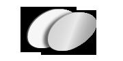 Alu-Schild rund, unbedruckt