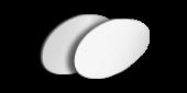 Alu-Dibond rund, unbedruckt