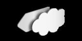 Alu-Schild Wunschform, unbedruckt